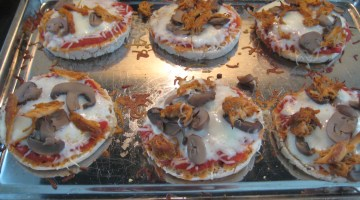 Gluten free mini pizzas