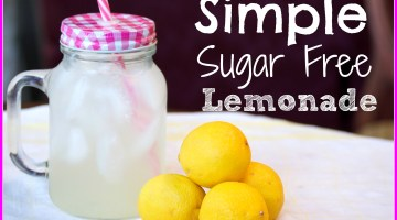 Simple Sugar Free Lemonade