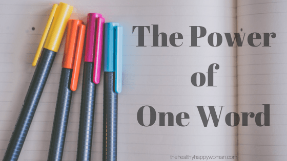 The Power of One Word