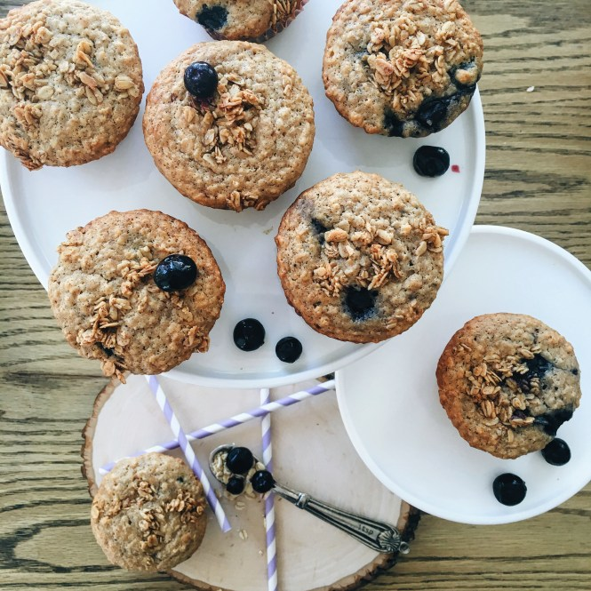 Blueberry and Oat Breakfast muffins 1