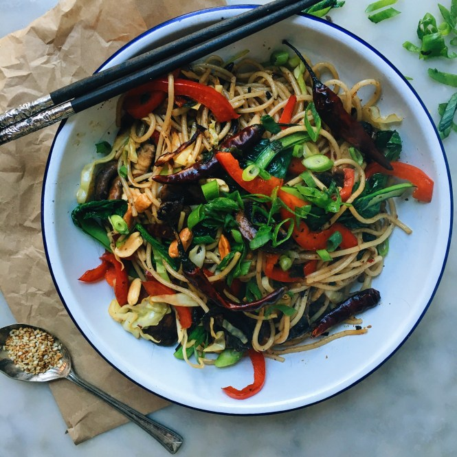 Kung pao mushrooms and noodles 5