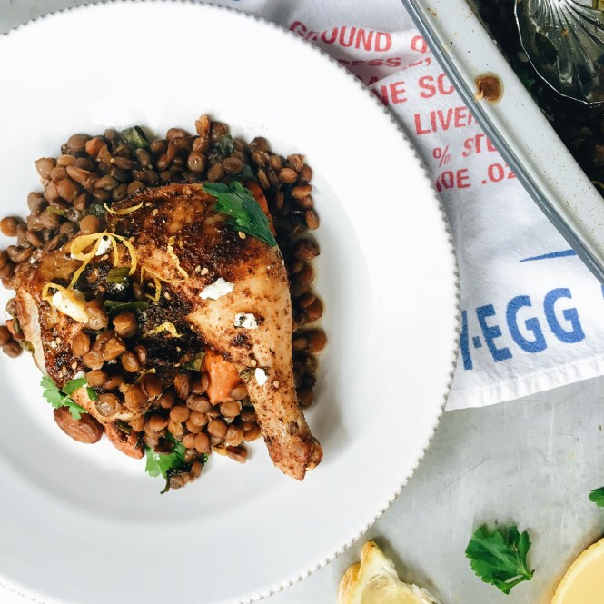 Baked Za'atar Spiced Chicken With Lentils 2