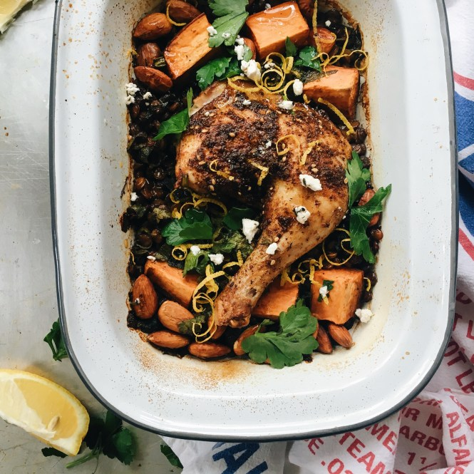 Baked Za'atar Spiced Chicken With Lentils 4