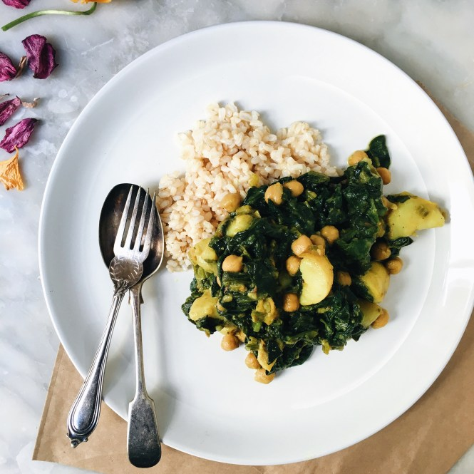 POTATO AND CHICKPEA SAAG CURRY 2