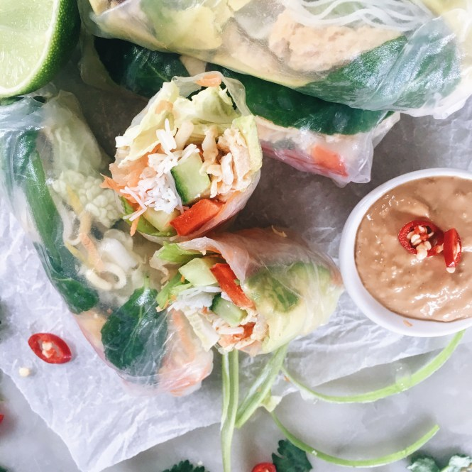 Avocado and egg rice paper rolls 7