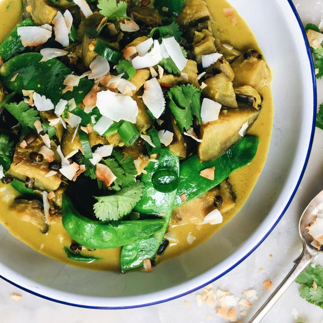 COCONUT AND GINGER EGGPLANT CURRY 3