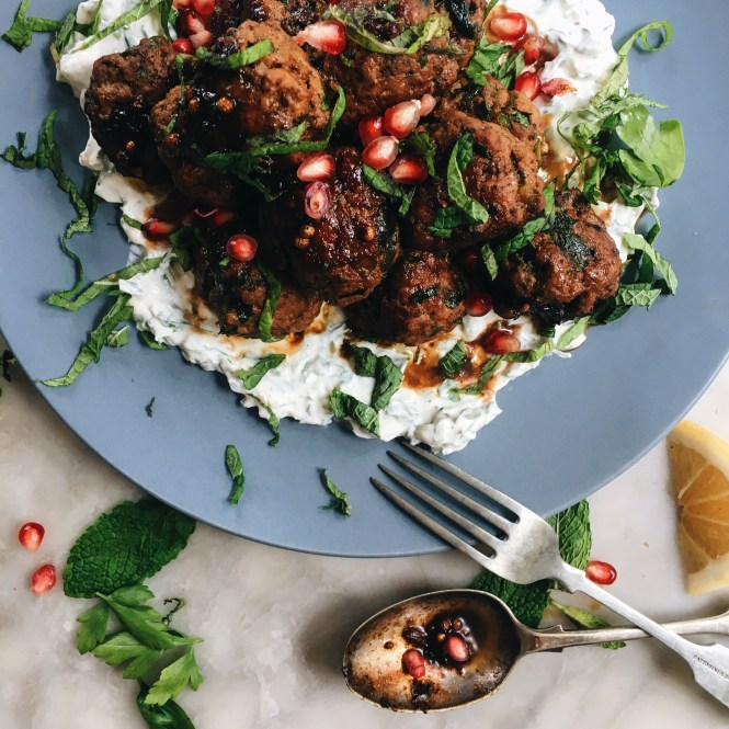 Lamb Meatballs with yoghurt sauce 3