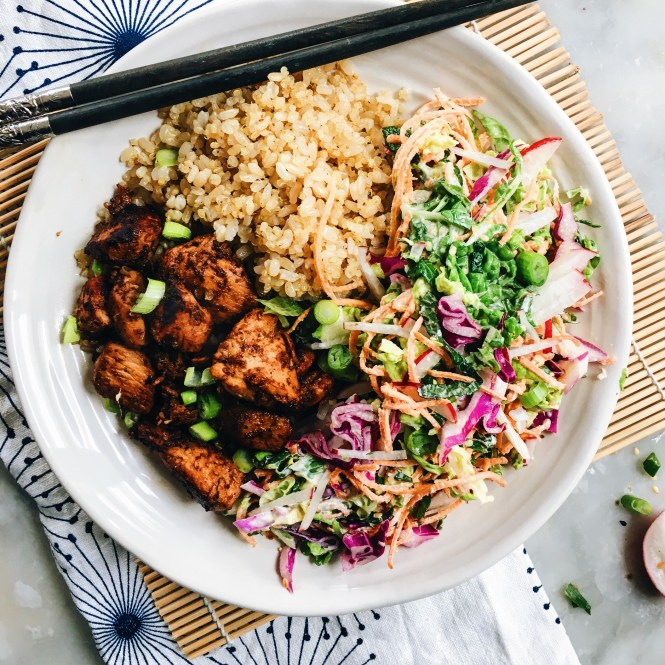 YAKITORI CHICKEN BOWLS WITH JAPANESE SLAW 3