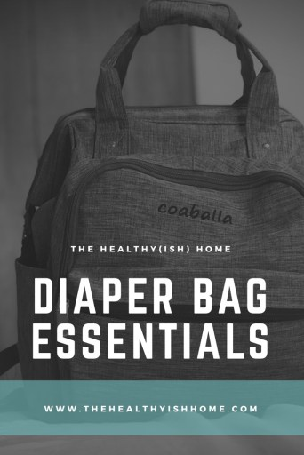 """A diaper bag is essential to my mom life. I've heard people say """"you don't really need one"""" or """"as you have more kids you won't want to carry one around anymore"""", but I find it extremely helpful to have a packed bag for my daughter with extra items we may need that day. What's in our diaper bag changes seasonally and as she grows bigger but for the most part I have kept the same items in it since she was born. #packingadiaperbag #diaperbag #toddleressentials"""
