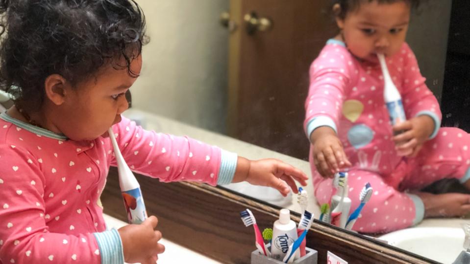 Toddler's Teeth Brushing Routine