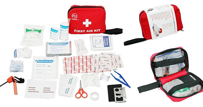 First Aid Kit Emergency Survival Bag for Hiking