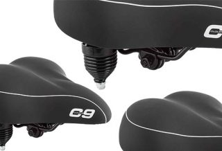 Sunlite Cloud-9 Bicycle Suspension Cruiser Saddle