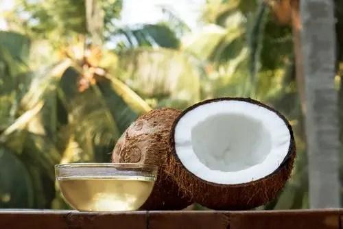 coconut is a high fiber keto food