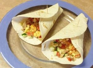 Keto egg breakfast burrito