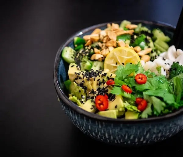vegan diet salad bowl
