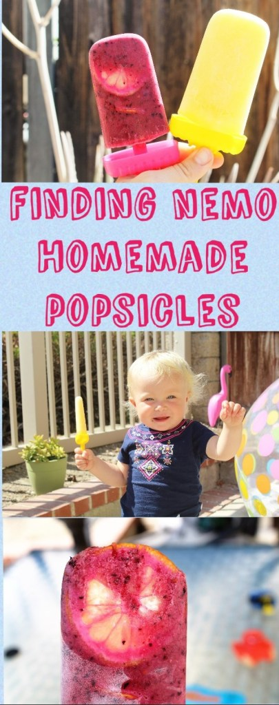 Finding Nemo Healthy Homemade popsicles