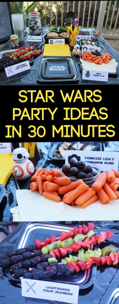 Star Wars Party Ideas that you can do within 30 minutes! All healthy eating items
