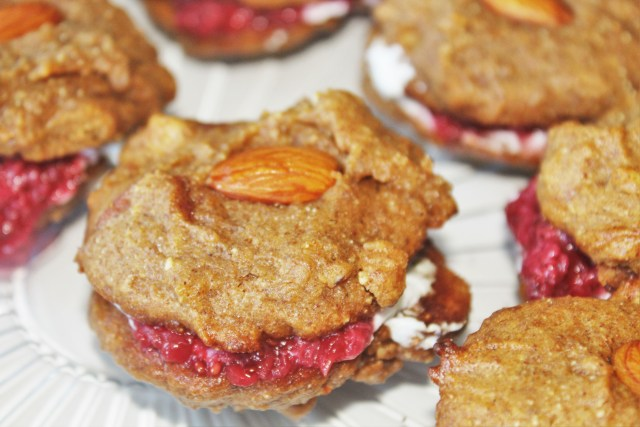 Almond Butter Cookie Sandwiches (Paleo, refined sugar-free)