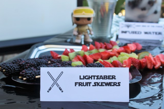 Lightsaber Fruit Skewers - Plus more easy and healthy Star Wars party food ideas