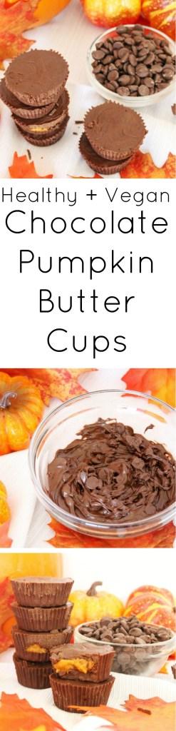 healthy vegan chocolate pumpkin butter cups