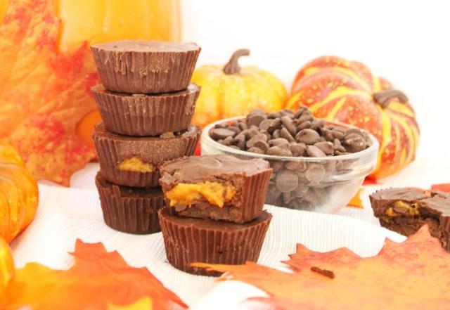 Healthy & Vegan Chocolate Pumpkin Butter Cups