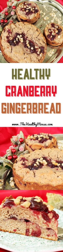 Healthy Cranberry Gingerbread - healthy holiday desserts!