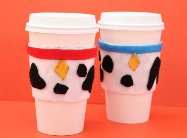 101 Dalmatians DIY Coffee Sleeves - 101 Dalmatians craft - Disney coffee sleeves -- Disney craft