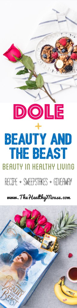 Dole and Beauty and the Beast inspired recipes, plus an amazing sweepstakes and Beauty and the Beast plate giveaway #Dole #beautyandthebeast #ad