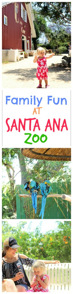 Family Fun at Orange County's Santa Ana Zoo - Favorite Exhibits, What to do with toddlers, and what our favorite healthy snacks are to bring
