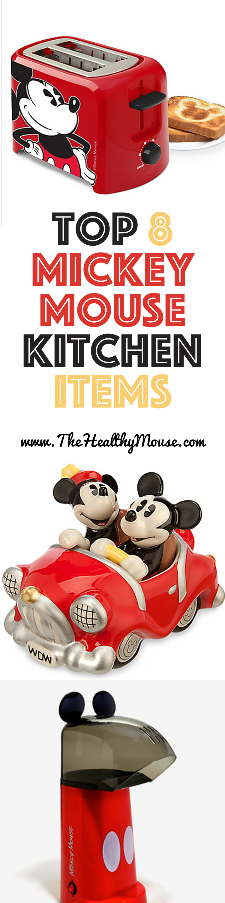 Top 8 Mickey Mouse Kitchen Items   Disney Kitchen Decor   Mickey Mouse Decor
