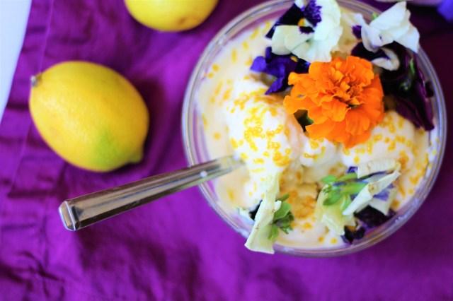 Rapunzel Inspired Vegan Lemon Ice Cream