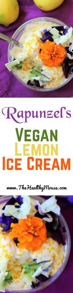Rapunzel inspired Vegan Lemon Ice Cream - Disney Princess Recipe - Disney Recipe - Vegan Disney - Tangled Recipe #summerofdisneystyle