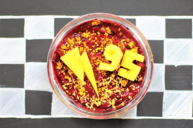 Cars 3 Inspired Recipe – Lightning McQueen Smoothie Bowl