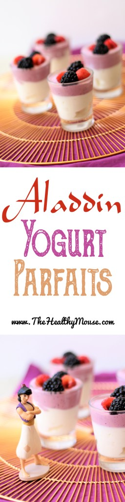 All-Natural and Healthy Mini Aladdin Yogurt Parfaits - Aladdin Party  - Healthy Disney Food