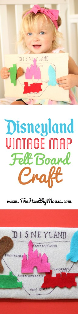 The best gift or toy for any Disneyland fan - A DIY Disneyland map felt board! - Disneyland craft, Disneyland toy