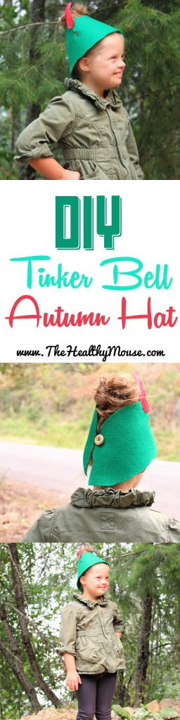 Easy DIY Tinker Bell Autumn Hat! Super cute for a Disney dress-up day!