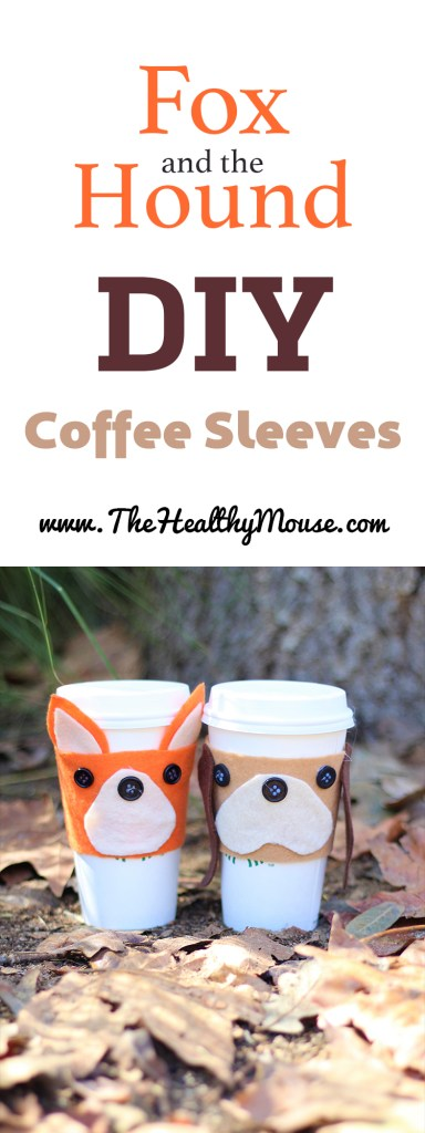 Fox and the Hound inspired DIY coffee sleeves