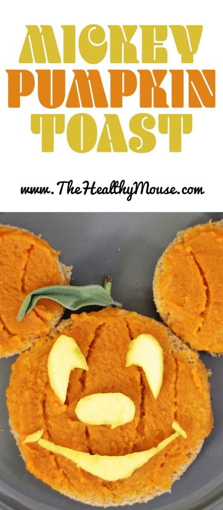 Simple Mickey Pumpkin Toast - Halloween Breakfast - Disney Halloween Ideas