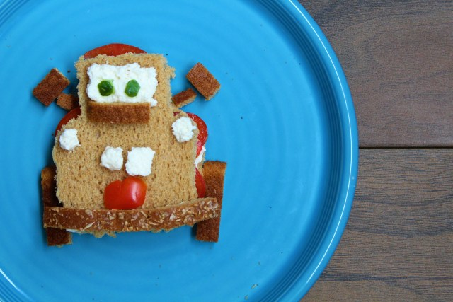 Pixar Cars Mator Food Art - ToMATOR sandwich! Disney food art
