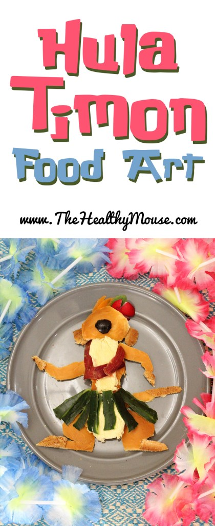 Hula Timon food art - healthy disney food art ideas