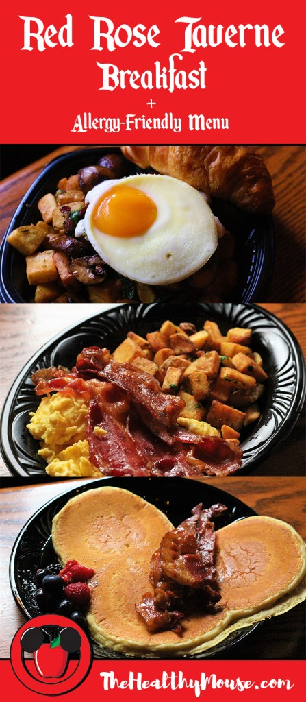 Red Rose Taverne Breakfast - Check out the new Disneyland menus for Red Rose Taverne, plus their allergy-friendly menu