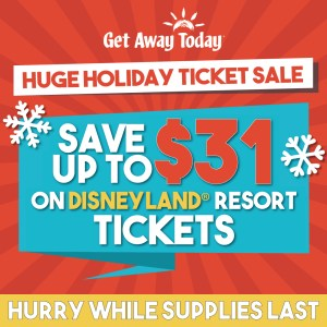 Holidays at Disneyland discount tickets