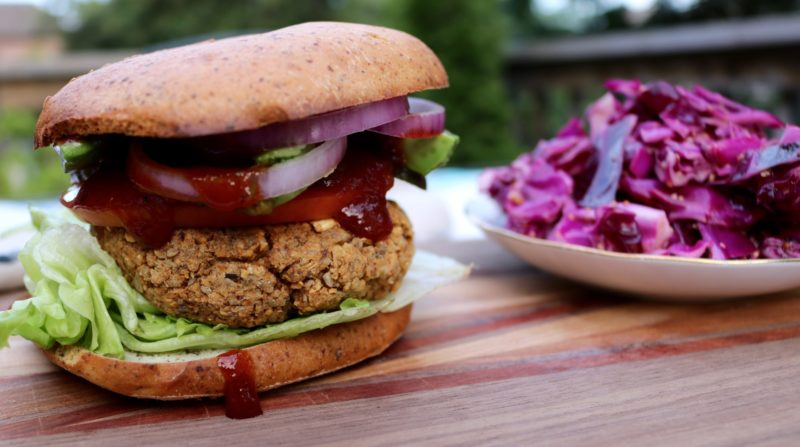 The best chickpea veggie burger recipe. Vegan and gluten free. It's healthy and easy to make in under 30 minutes. Made with chickpeas and chia seeds