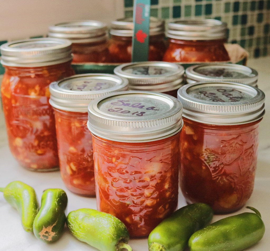 Easy homemade salsa made from fresh tomatoes, corn and herbs.