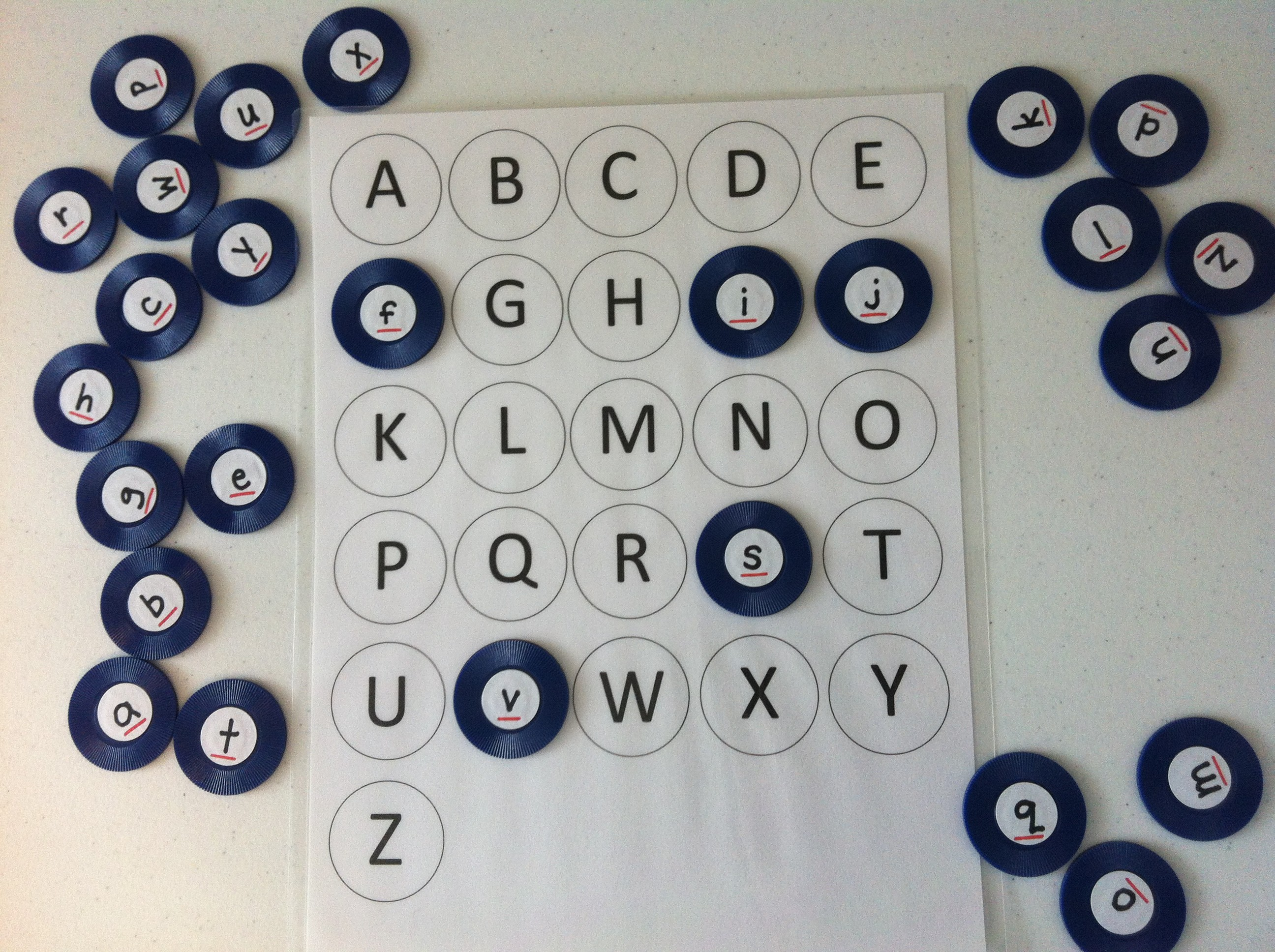 Uppercase Lowercase Alphabet Matching Game With Free Printable