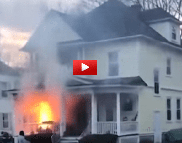 UPS Driver Saves Family From Fire – The Footage Is Incredible