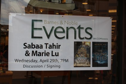 sabaa tahir & marie lu event - the heart of a book blogger
