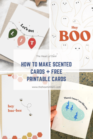 How to make scented cards + free printable cards