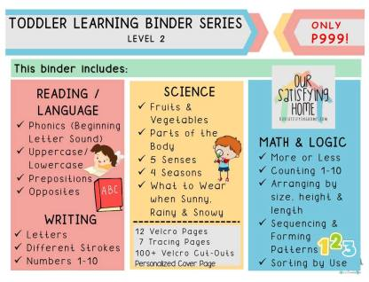 Homeschool Learning Resources Toddler Binder Series Level 2