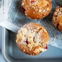 Cranberry & White Chocolate Streusel Muffins